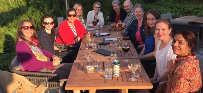 CWCA/ACCR members enjoy an evening social during the 2019 annual conference in Vancouver